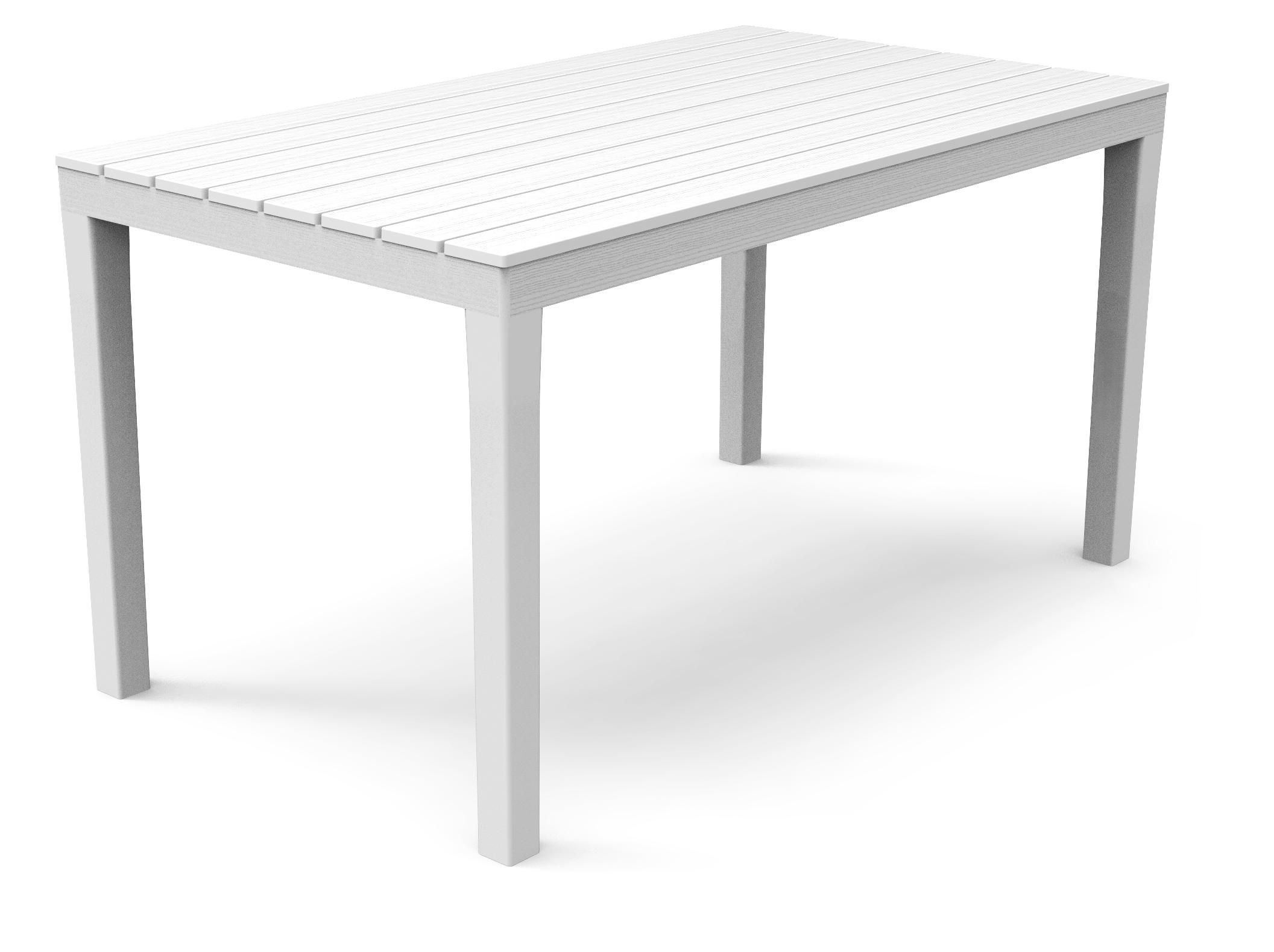 sumatra gartentisch 140x80cm kunststoff in holz optik wei. Black Bedroom Furniture Sets. Home Design Ideas