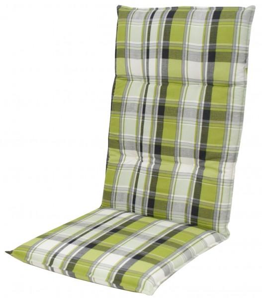 5336 Hochlehner Gartenstuhl Auflagen 120x50x7cm grün kariert