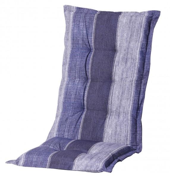 F365 Hochlehner Gartenstuhl Auflagen 120x50x8cm blau Streifen