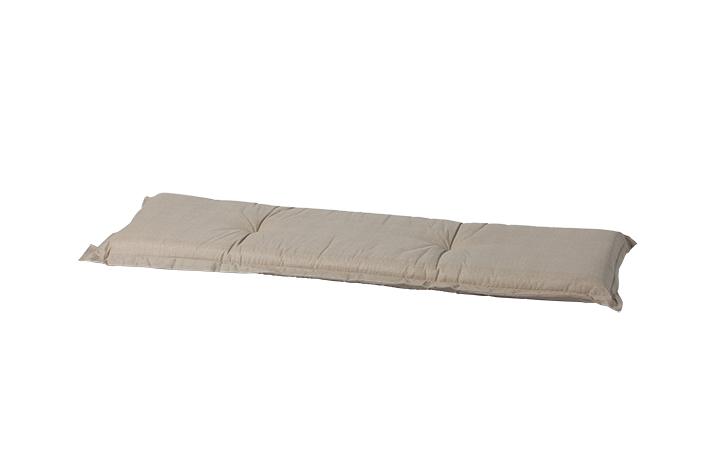 a049 3er gartenbank bankauflage 150x48x8cm natur sand uni f r b nke auflagen polster. Black Bedroom Furniture Sets. Home Design Ideas