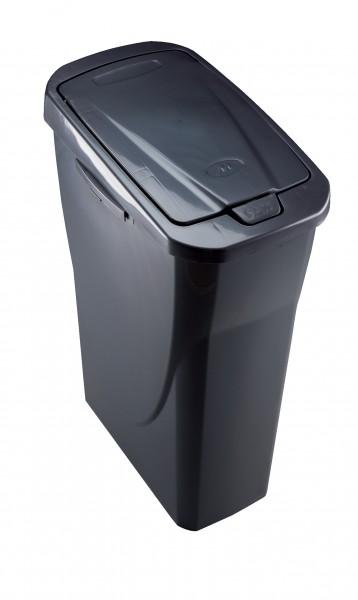 45x Mondex Abfalleimer 25 Liter Mülleimer anthrazit