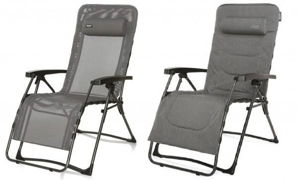 XL Relaxsessel - verstellbarer und klappbarer Campingsessel grau