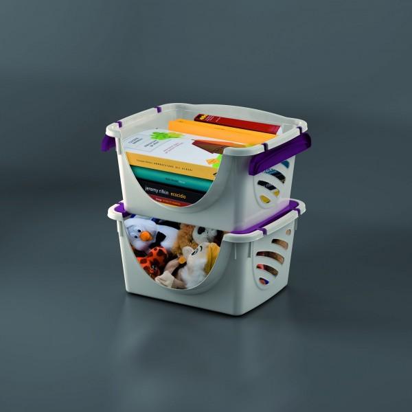 PLS559 2er-Set Stapelboxen 34x43,5x23cm