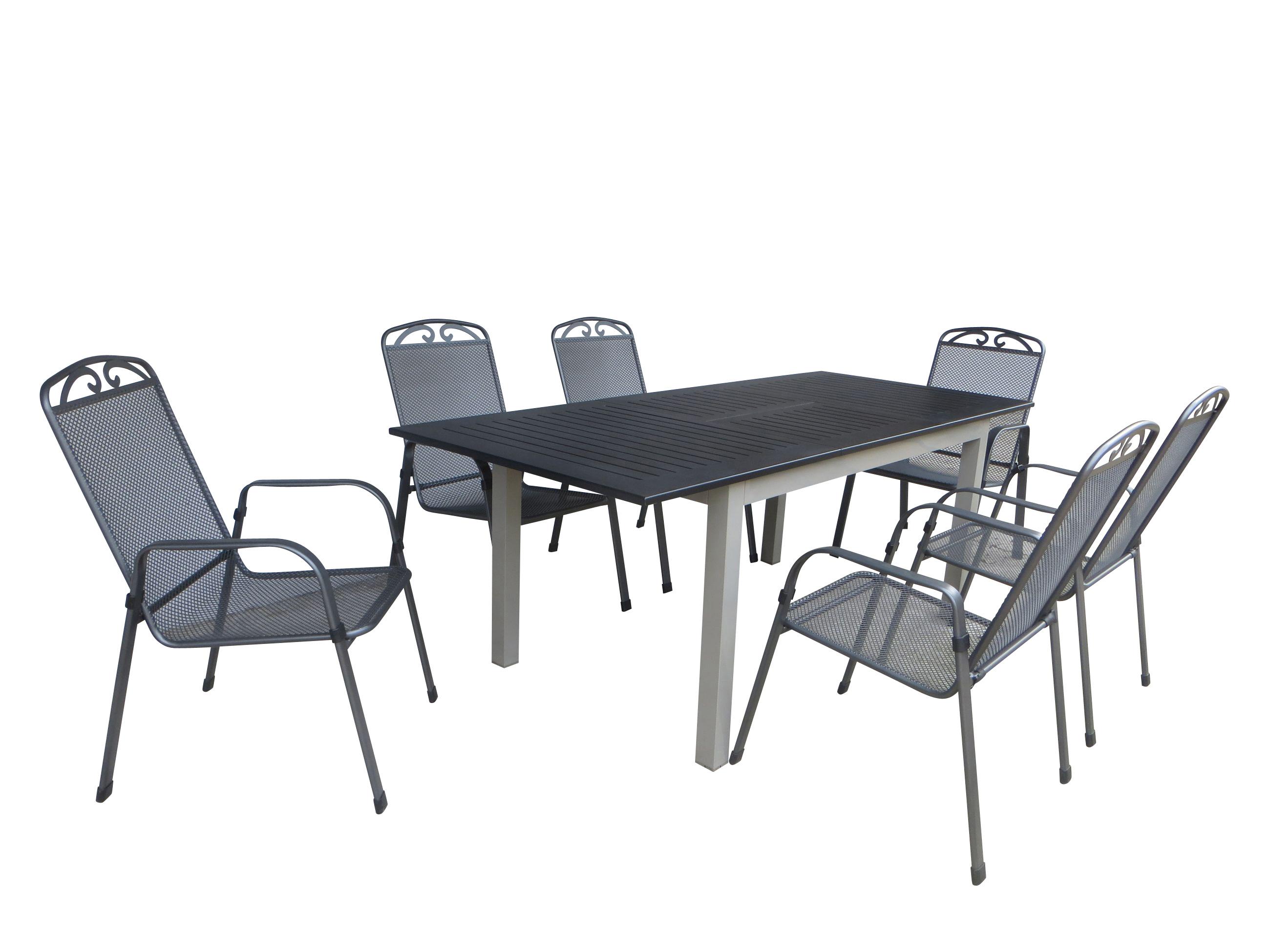 pune alu gartenm bel set sitzgarnitur 7tlg champagner. Black Bedroom Furniture Sets. Home Design Ideas