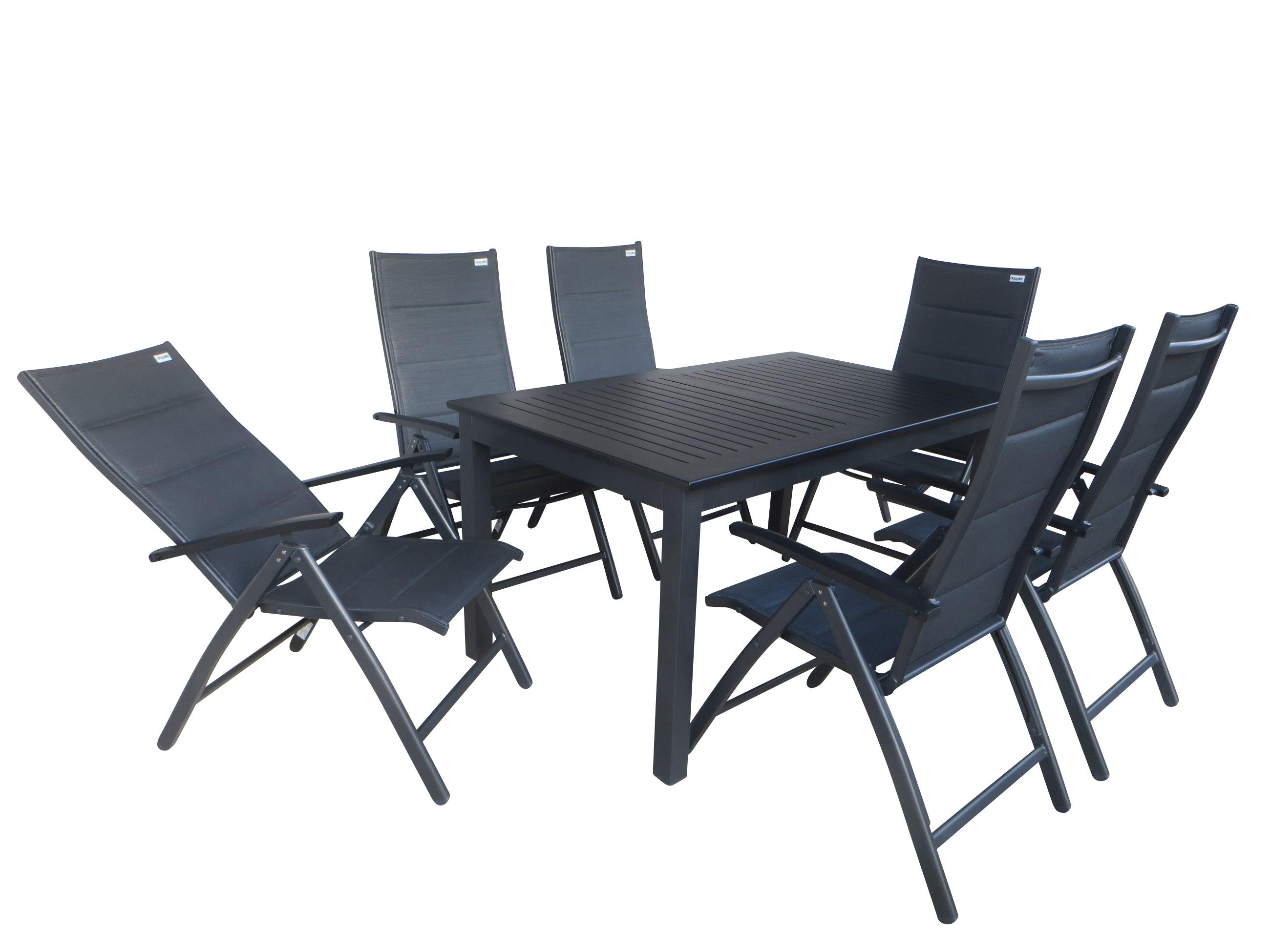 munduk padded alu gartenm bel set sitzgarnitur 7tlg. Black Bedroom Furniture Sets. Home Design Ideas