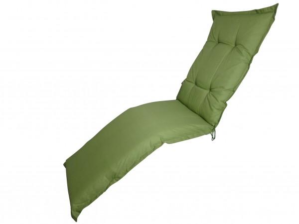 A044 Relaxliegenauflage Relaxsessel 170x50x8cm grün uni