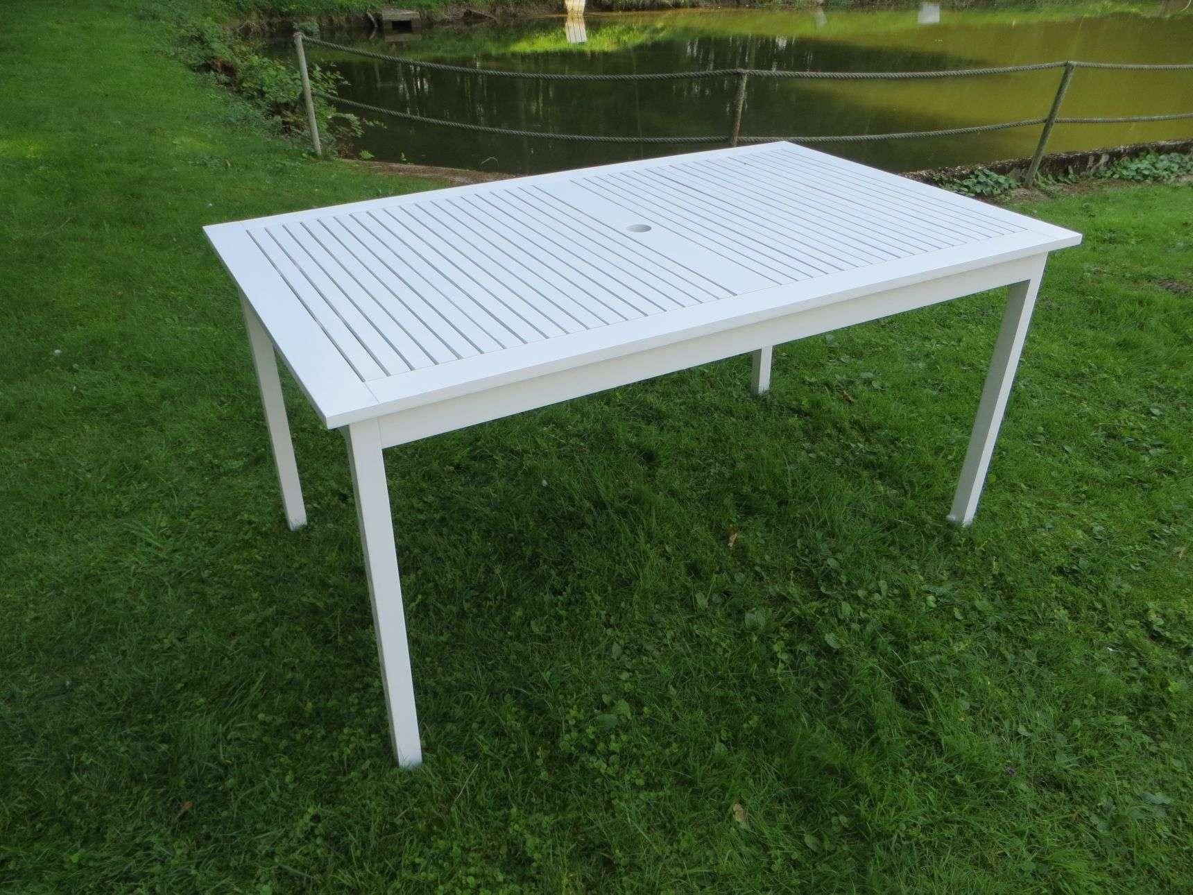 Ordentlich KADINA Holz Gartentisch 150x90cm, weiss lackiert | Gartentische  JR94
