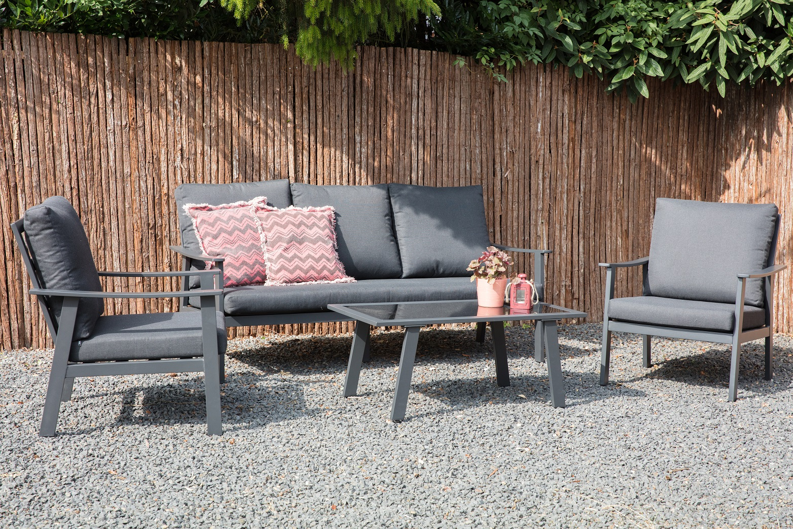 Bacard Aluminium Lounge Gartenmobel Sitzgruppe Grau Lounge Mobel