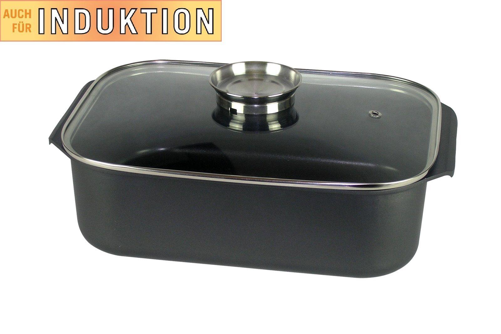 xxl alu br ter 7 8 liter mit deckel induktions schmortopf. Black Bedroom Furniture Sets. Home Design Ideas