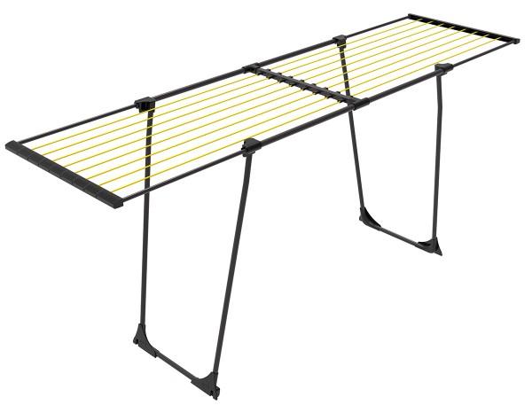 EASYFLEX Wäscheständer mit Rollen Wäschetrockner 20m grau