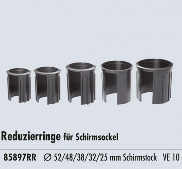 Reduzierringe für Schirmständer 52 48 38 32 25 mm Innendurchmesser