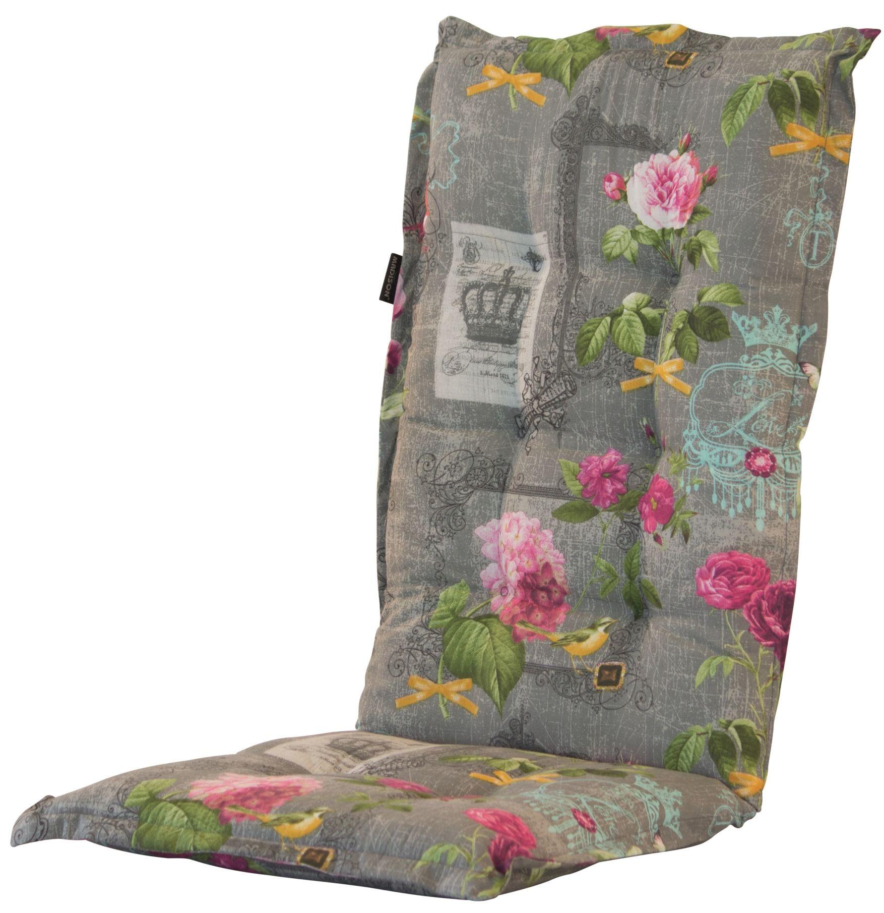 a042 hochlehner gartenstuhl auflagen 120x50x8cm grau gebl mt f r st hle mit hoher lehne. Black Bedroom Furniture Sets. Home Design Ideas