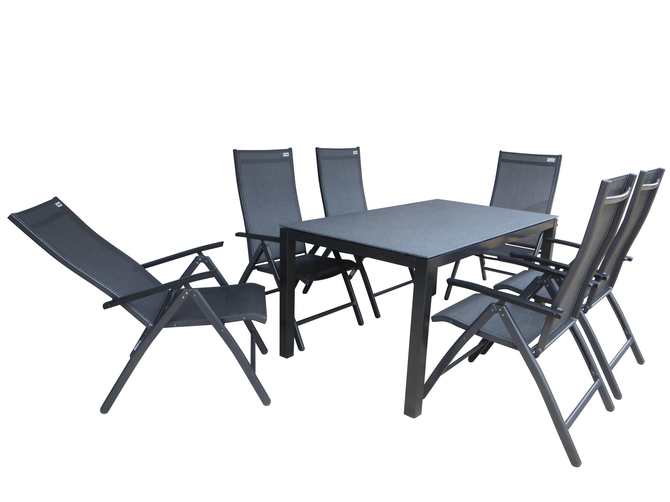 tacna alu gartenm bel set sitzgarnitur 7 teilig anthrazit grau gartenm bel gruppen. Black Bedroom Furniture Sets. Home Design Ideas
