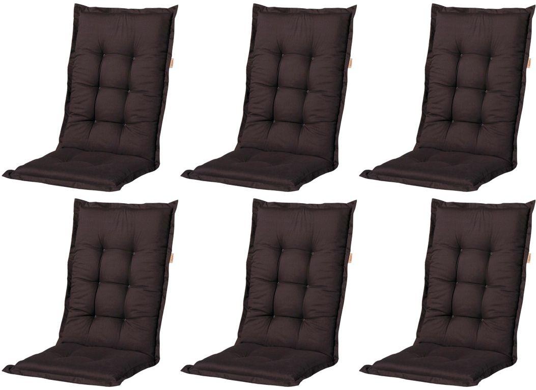 6x a052 hochlehner gartenstuhl auflagen 120x50x8cm schwarz uni f r st hle mit hoher lehne. Black Bedroom Furniture Sets. Home Design Ideas