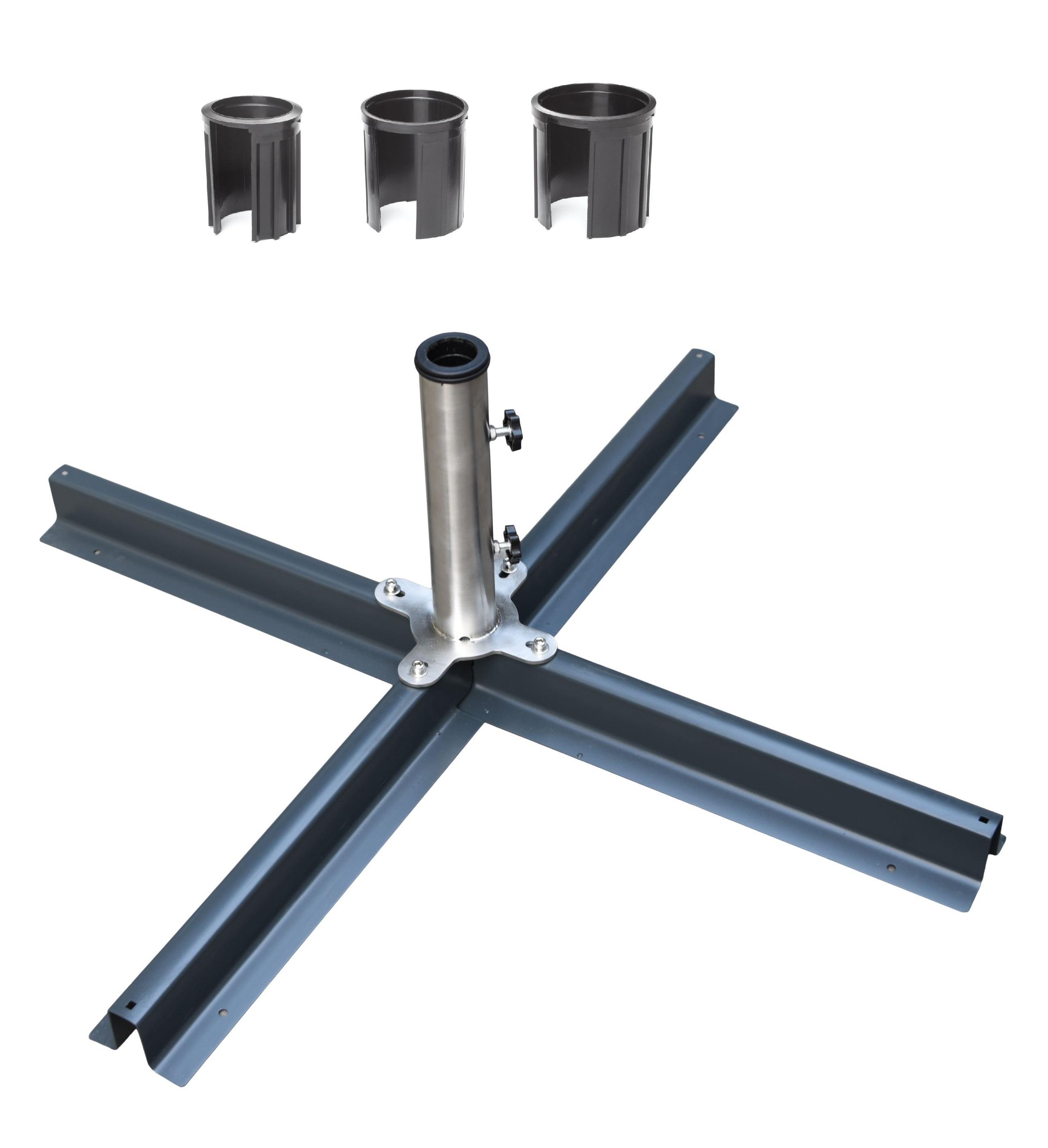 plattenst nder f r sonnenschirme inkl reduzierringe mg schirmst nder sonnenschutz. Black Bedroom Furniture Sets. Home Design Ideas