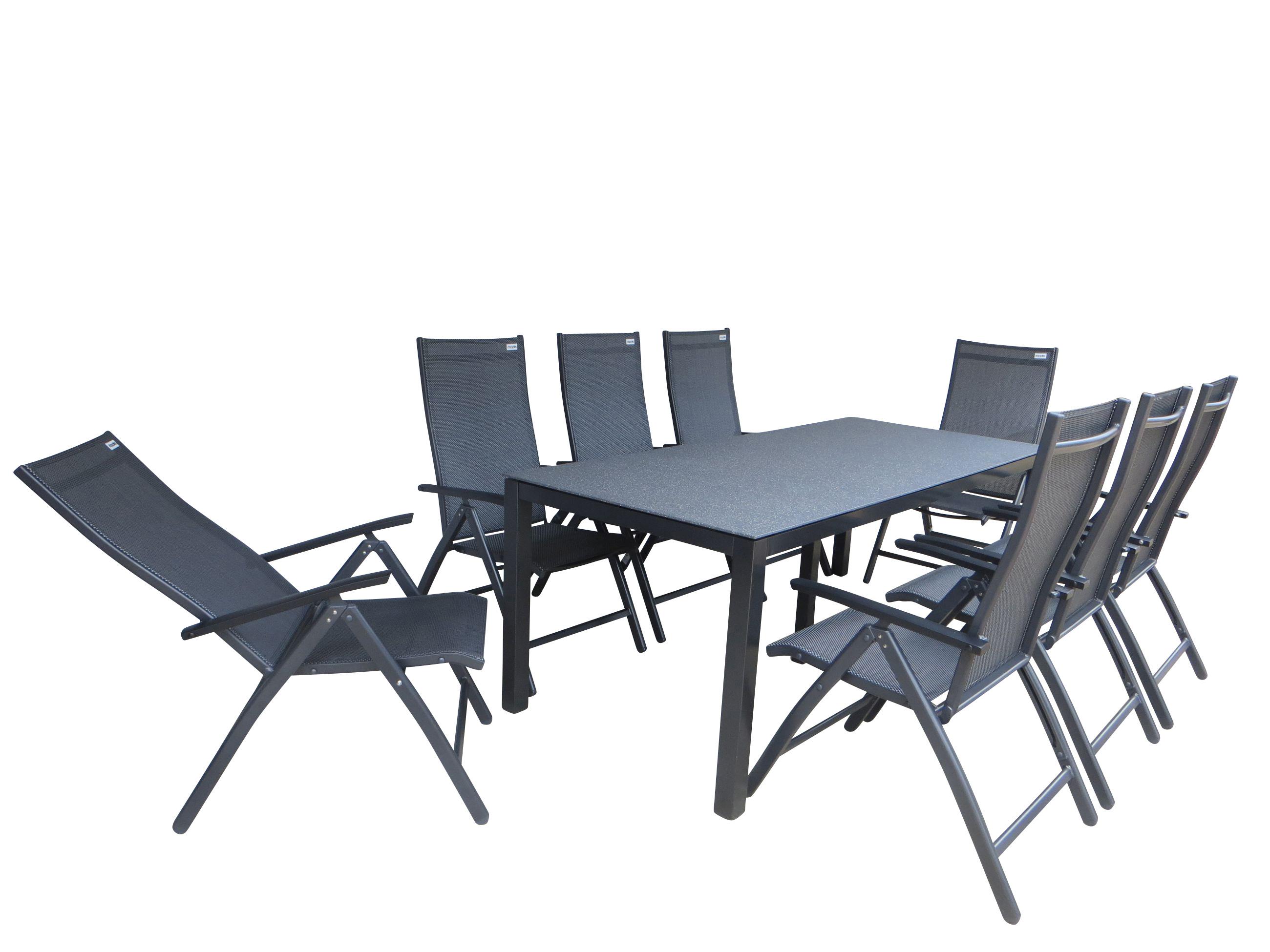 tumbes alu gartenm bel set sitzgarnitur 9 teilig. Black Bedroom Furniture Sets. Home Design Ideas