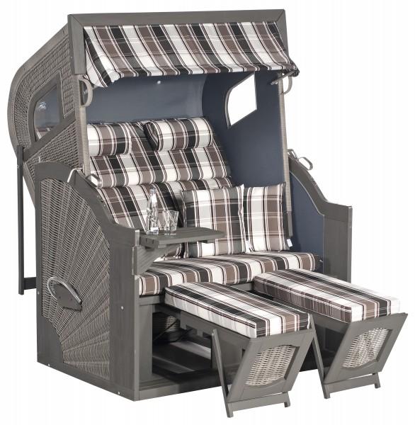 COMFORT 405Z Luxus Strandkorb 2-Sitzer B129xT106xH171cm