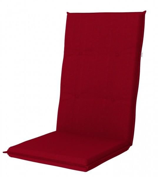 8028 Hochlehner Gartenstuhl Auflage Kissen 119x50x6cm rot