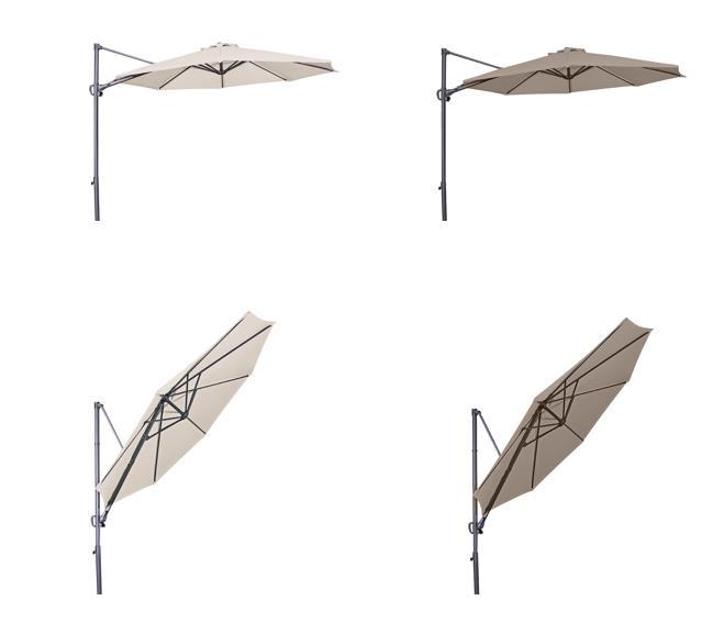 ravenna ampelschirm 300cm rund mit uv schutz. Black Bedroom Furniture Sets. Home Design Ideas