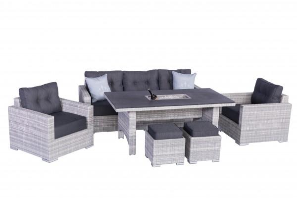 SARDINO ICE Polyrattan Lounge Gartenmöbel Set inkl. Einsatz ...