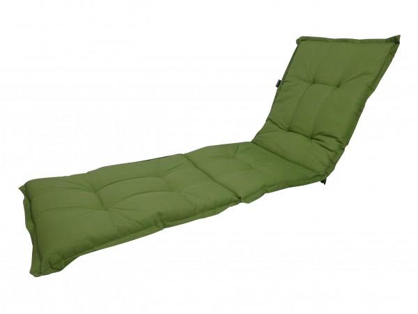 A044 Rollliegenauflage Gartenliege Auflage 190x60x8cm grün uni