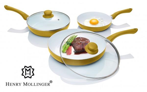 HENRY MOLLINGER 5-teiliges Induktion Keramik Pfannen Set