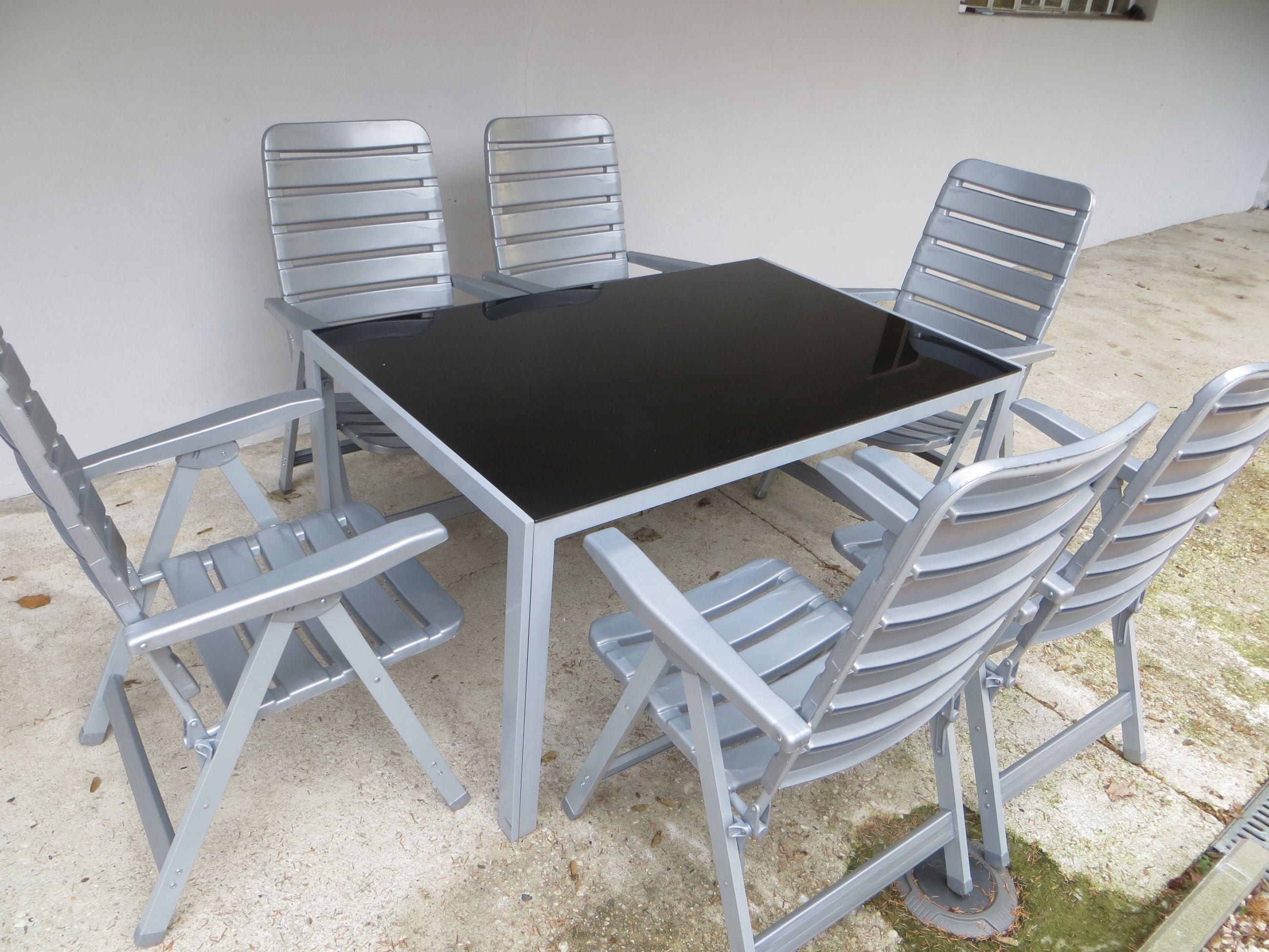 rio alu gartenm bel set sitzgarnitur 7 teilig silber gartenm bel gruppen garten. Black Bedroom Furniture Sets. Home Design Ideas
