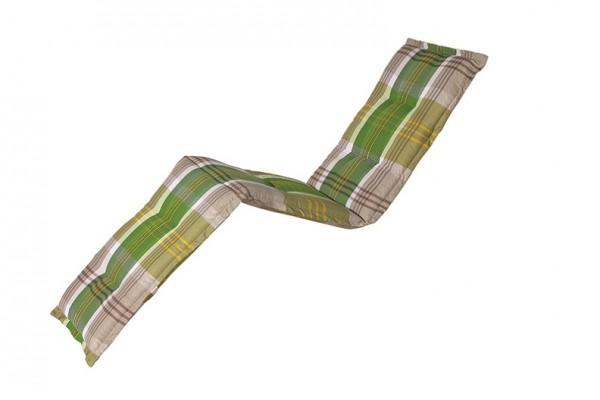 C296 Relaxliegenauflage Relaxsessel 170x50x8cm grün kariert