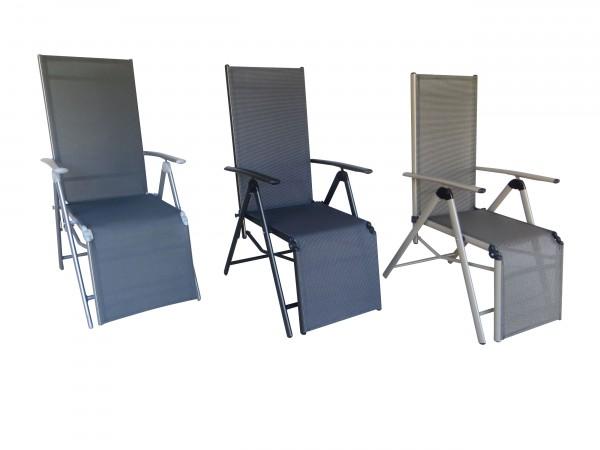 BOLERO Relaxsessel verstellbarer und klappbarer Liegestuhl