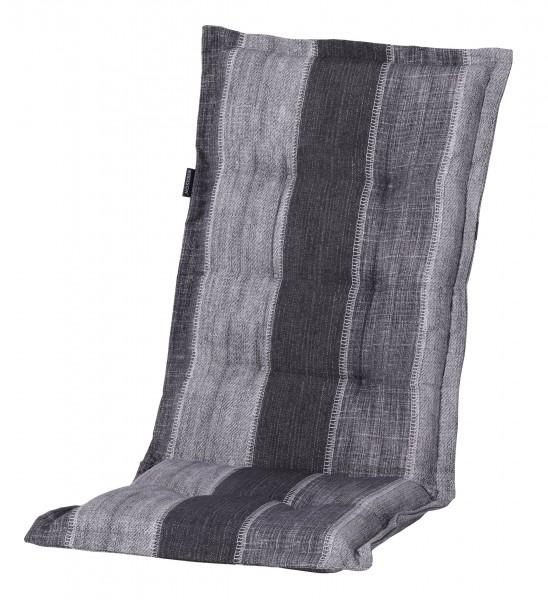 F364 Hochlehner Gartenstuhl Auflagen 120x50x8cm grau Streifen