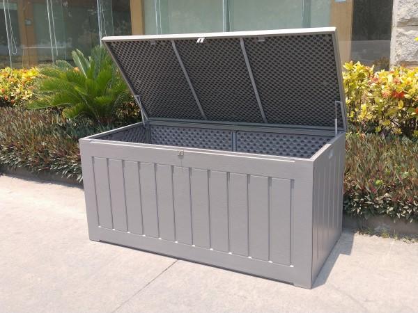JERSEY Auflagenbox Kissenbox Aufbewahrungsbox grau 830L