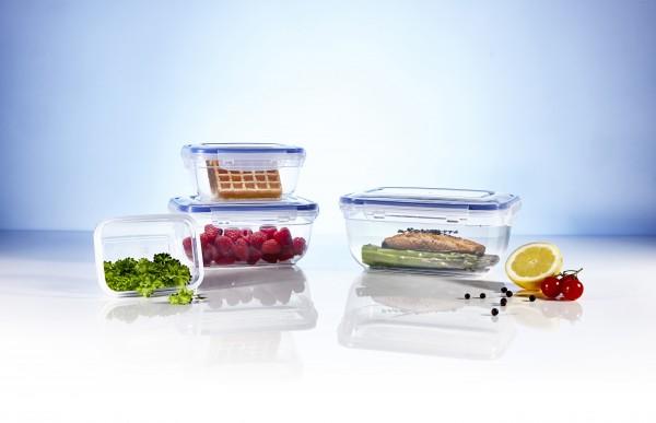 Click`n Store 802324 Frischhaltedosen Set Gefrierdosen BPA frei