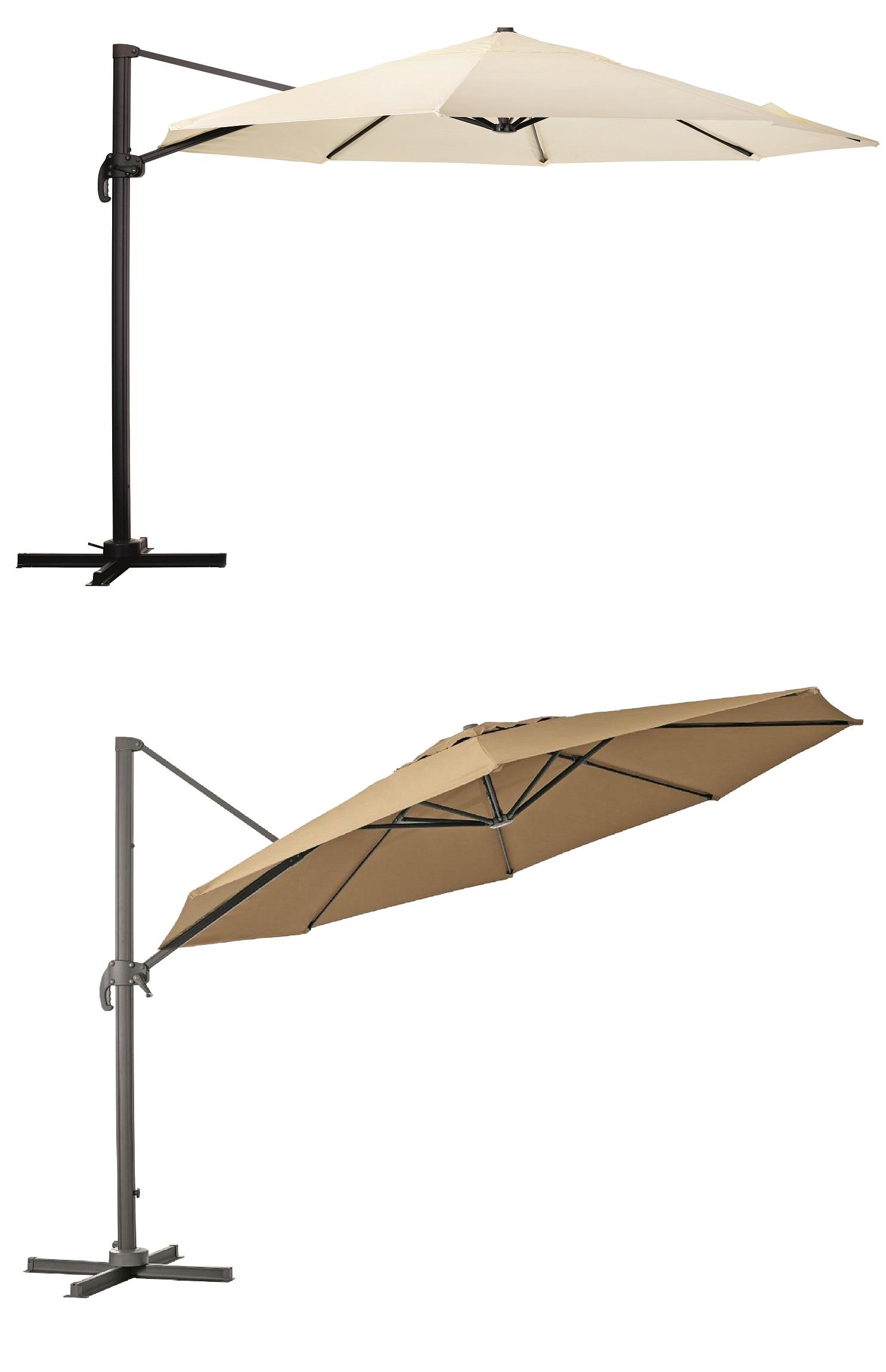 kolos xxl alu ampelschirm 400cm rund mit uv schutz 50. Black Bedroom Furniture Sets. Home Design Ideas