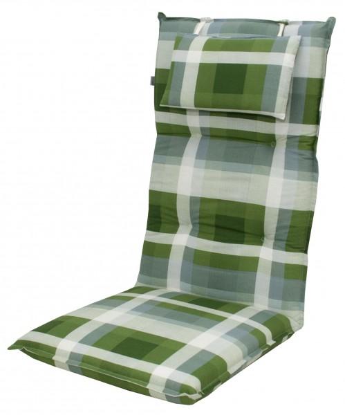 8606 Hochlehner Gartenstuhl Auflagen 8cm Kopfkissen grün