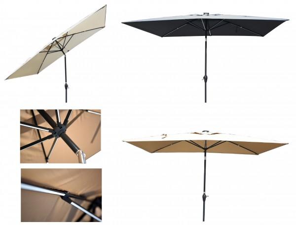 starlight sonnenschirm led kurbelschirm 200x300cm knickbar sonnenschirme sonnenschutz. Black Bedroom Furniture Sets. Home Design Ideas