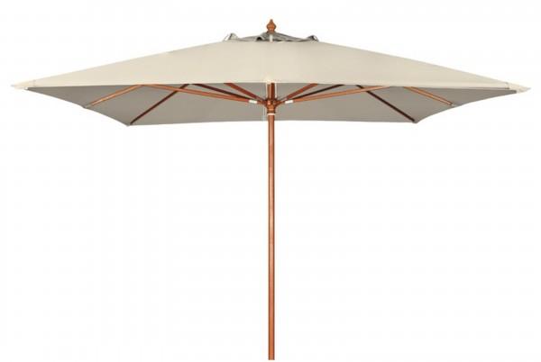 MONTE CARLO Sonnenschirm 300x300cm Holzstockschirm