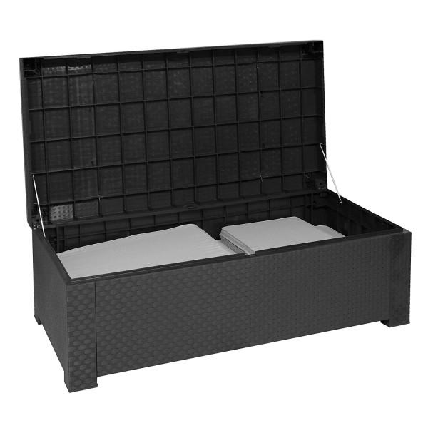 COFRE Auflagenbox Kissenbox Polyrattan-Optik - grau