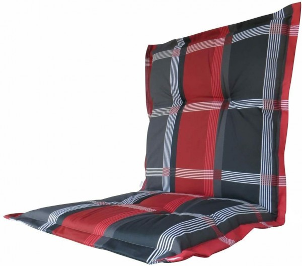 B253 Niederlehner Gartenstuhl Auflagen 105x50x8cm rot kariert