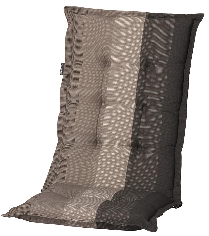 c405 hochlehner gartenstuhl auflagen 8cm dick taupe gestreift f r st hle mit hoher lehne. Black Bedroom Furniture Sets. Home Design Ideas