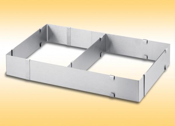 Backrahmen 27-52,5x18-34cm Edelstahl Kuchenrahmen 801840