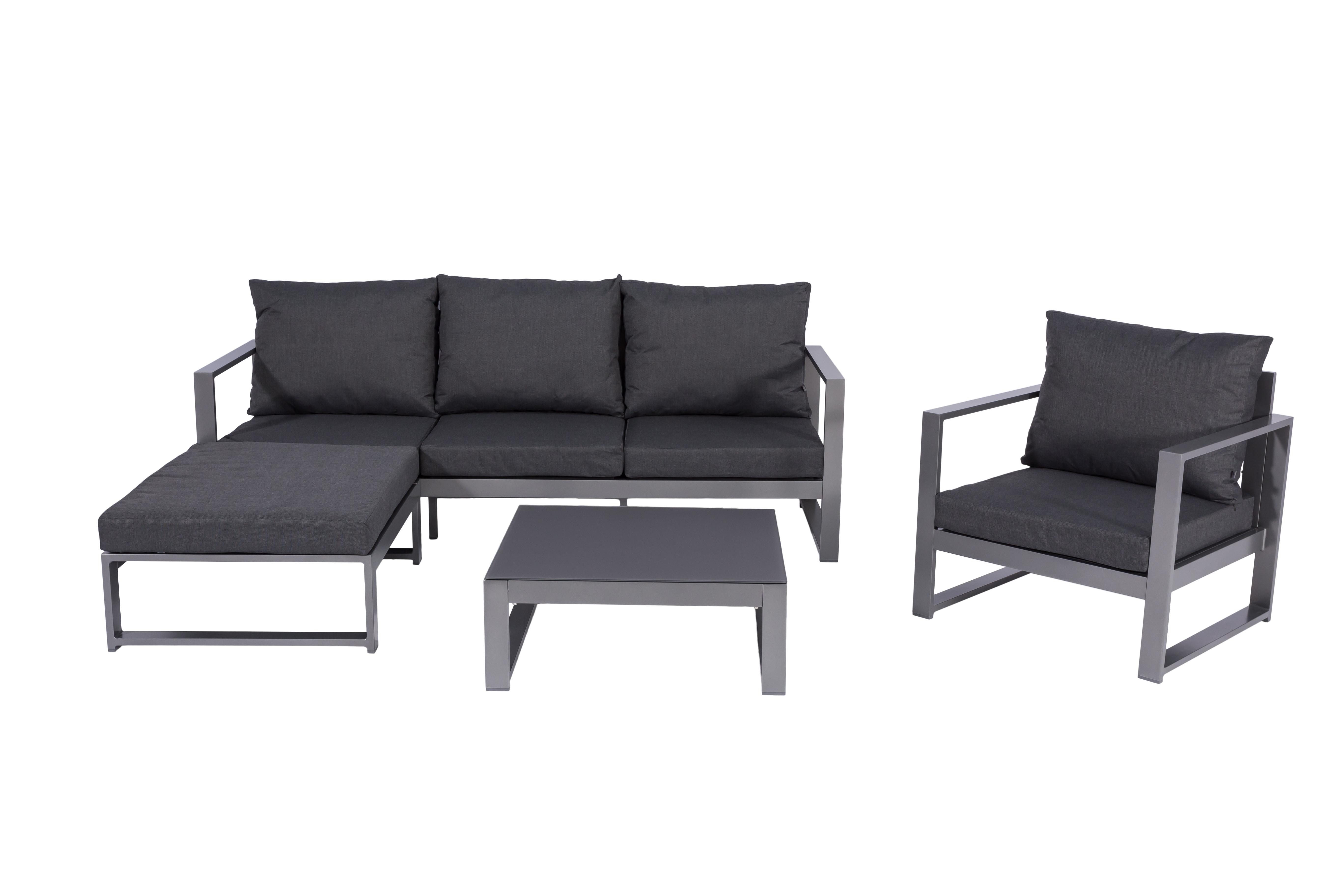 bella aluminium ecklounge gartenm bel sitzgruppe anthrazit lounge m bel garten. Black Bedroom Furniture Sets. Home Design Ideas