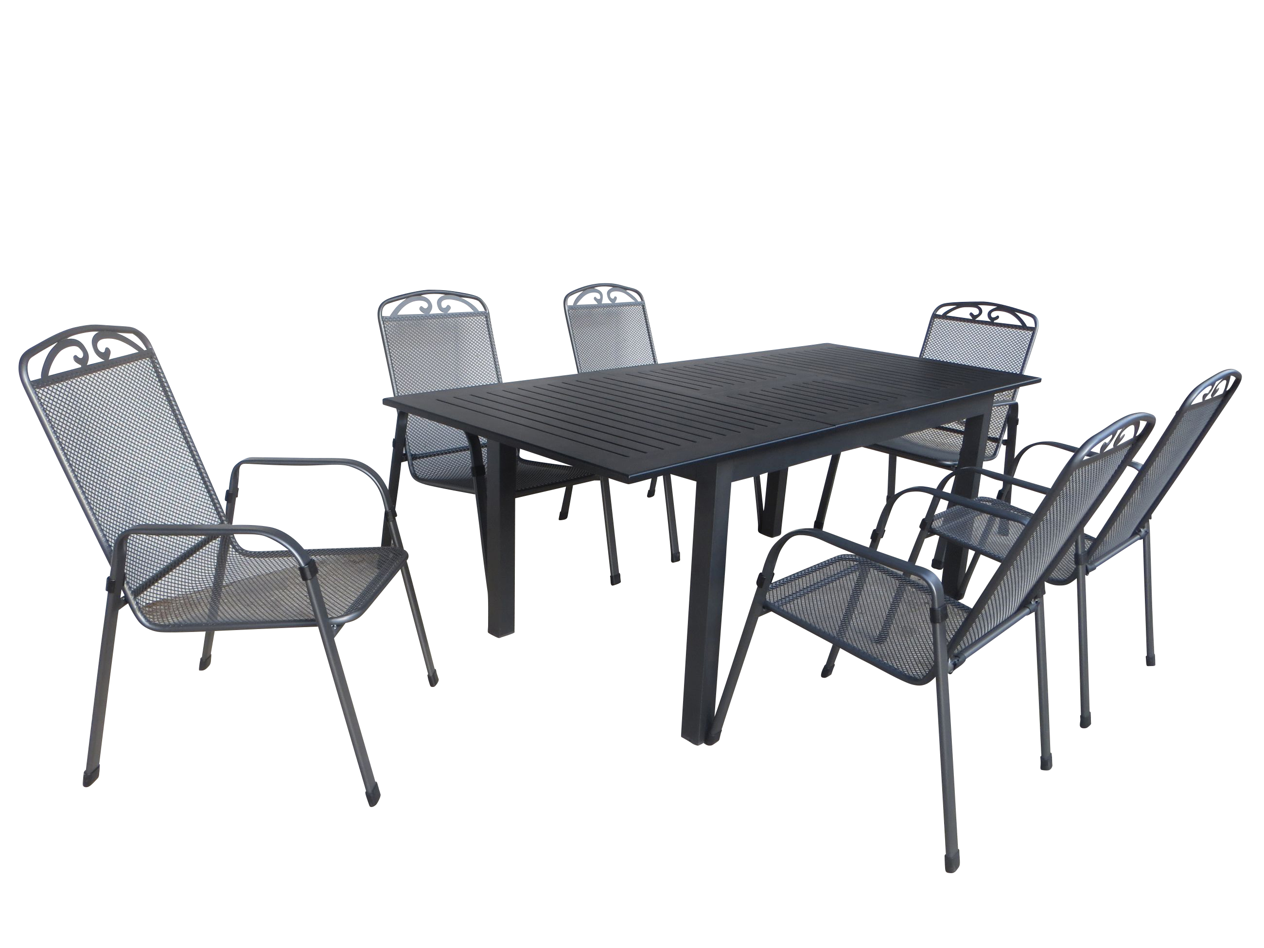 kuta alu gartenm bel set sitzgarnitur 7 tlg anthrazit schwarz gartenm bel gruppen garten. Black Bedroom Furniture Sets. Home Design Ideas