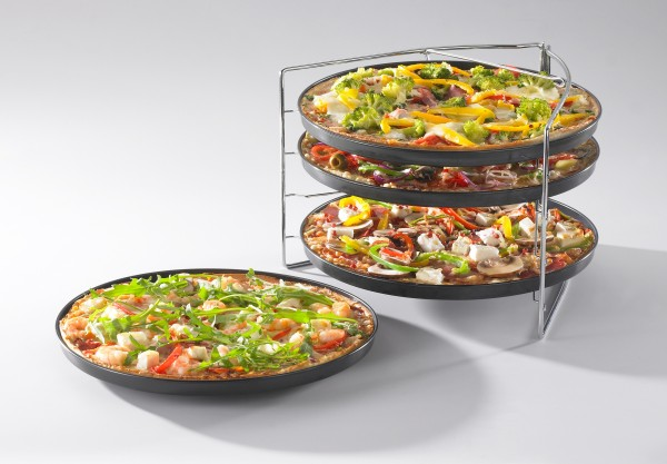 BELLA ITALIA Pizza Backset 5-teiliges Pizzablech-Set 736508