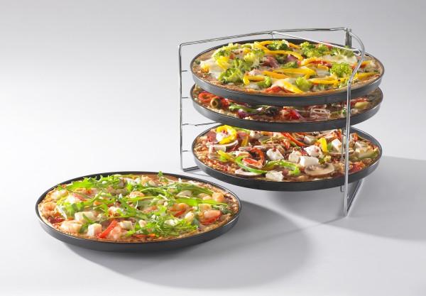 BELLA ITALIA Pizza Backset 5-teiliges Pizzablech-Set 736508