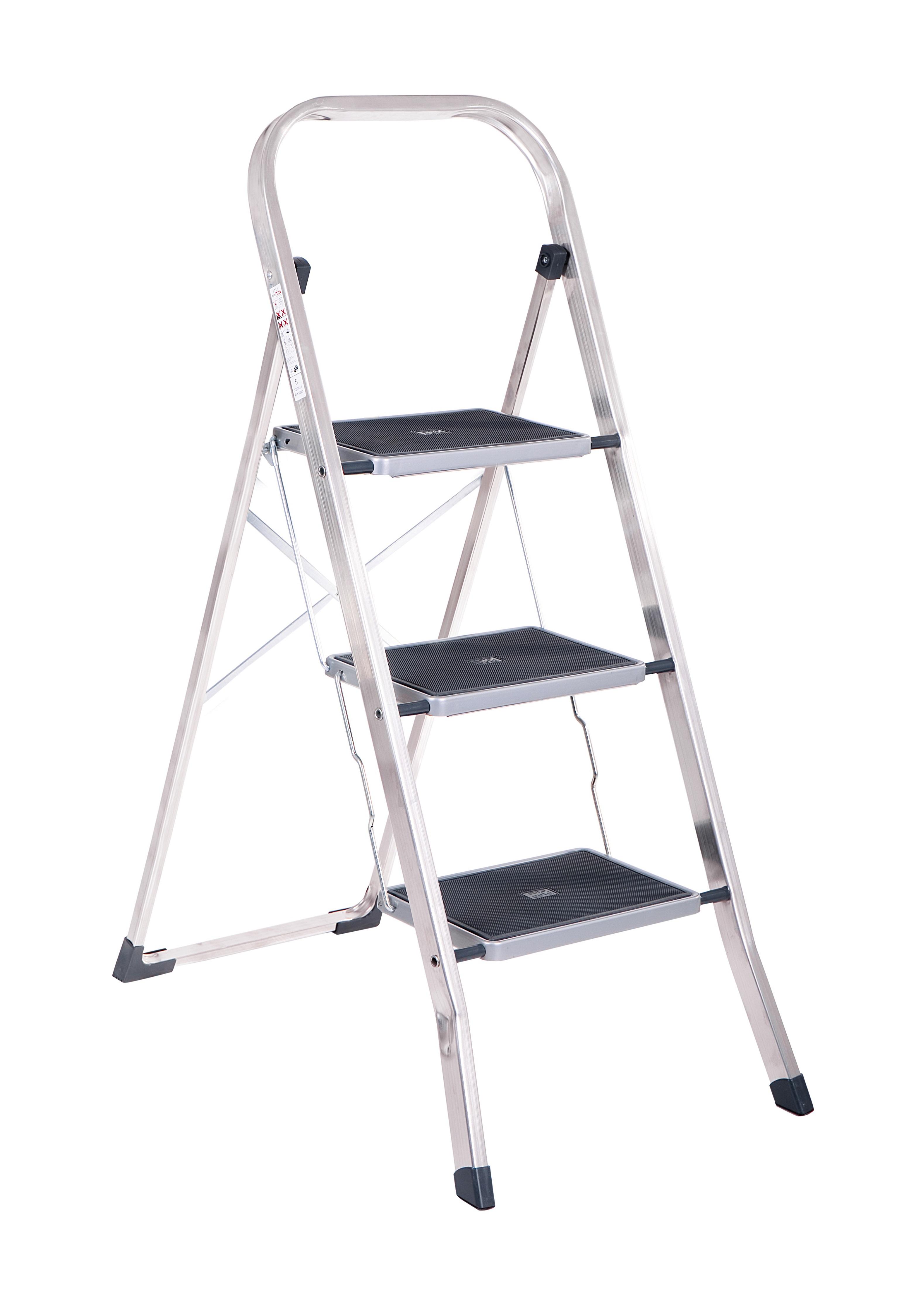Alu Klapp Trittleiter Mit 3 Stufen 150kg Belastbarkeit
