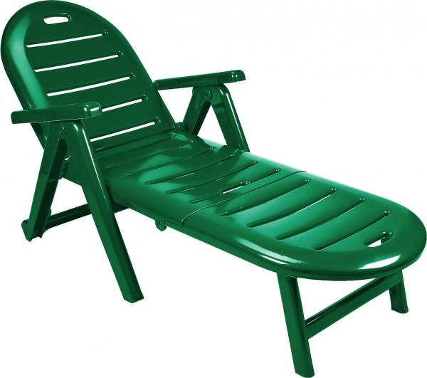 CAIMAN Rollliege Gartenliege Kunststoff Liege Klappliege grün