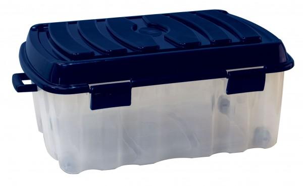XXL Profi Rollenbox 90 Liter inkl. Griff und Deckel - 78x55x34cm