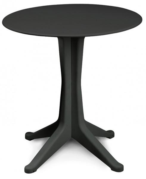 LEVANTE Gartentisch aus Kunststoff 70cm rund - anthrazit