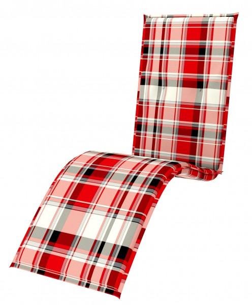 5309 Relaxliegenauflage Relaxsessel Auflage Kissen 7cm rot Karo