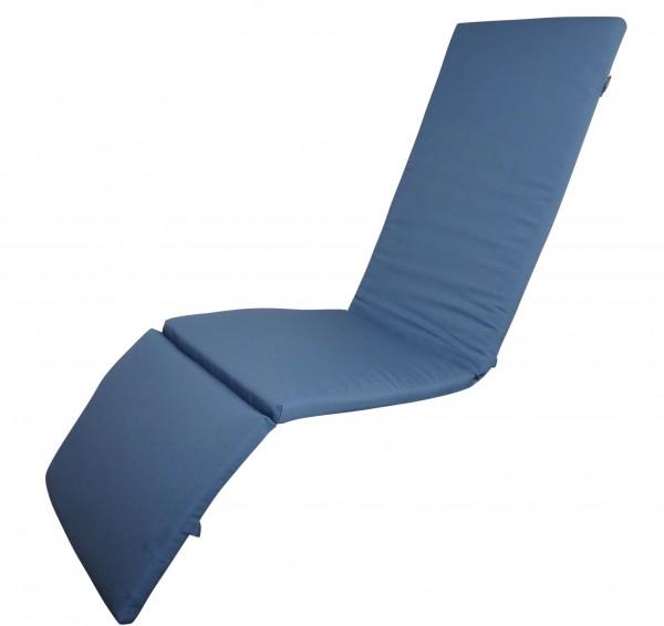 16-8903 Relaxliegenauflage Liege Relaxsessel Auflage Kissen blau